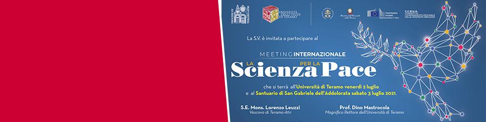 """Meeting internazionale """"La scienza per la pace"""""""