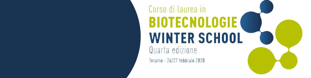 Winter School del corso di laurea in Biotecnologie - 2020