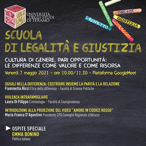Scuola di legalità e giustizia