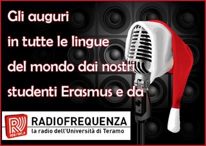 Gli auguri in tutte le lingue del mondo dai nostri studenti Erasmus e da RadioFrequenza