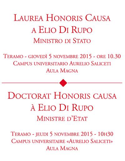 Laurea Honoris Causa ad Elio Di Rupo