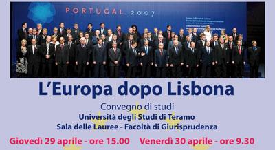 Convegno sul trattato di Lisbona
