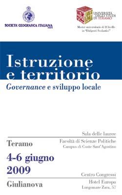Istruzione e territorio. Governance e sviluppo locale