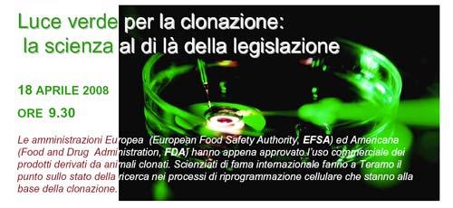 Luce verde per la clonazione: la scienze al di là della legislazione