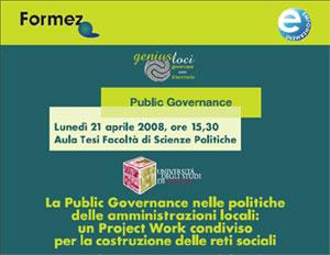 La Public Governance nelle politiche delle amministrazioni locali: un Project Work condiviso per la costruzione delle reti sociali