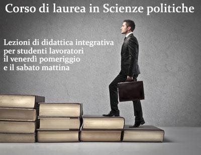 Scienze politiche: lezioni di didattica integrativa per studenti lavoratori