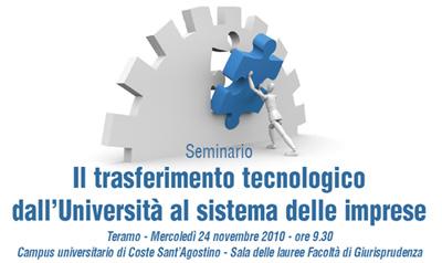 """A Teramo il seminario """"Il trasferimento tecnologico dall'Università al sistema delle imprese"""""""