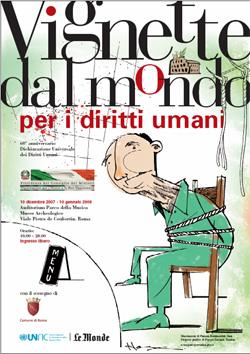 """Mostra """"Vignette da mondo per i diritti umani"""". Al Campus di Coste Sant'Agostino dal 27 marzo al 27 aprile"""