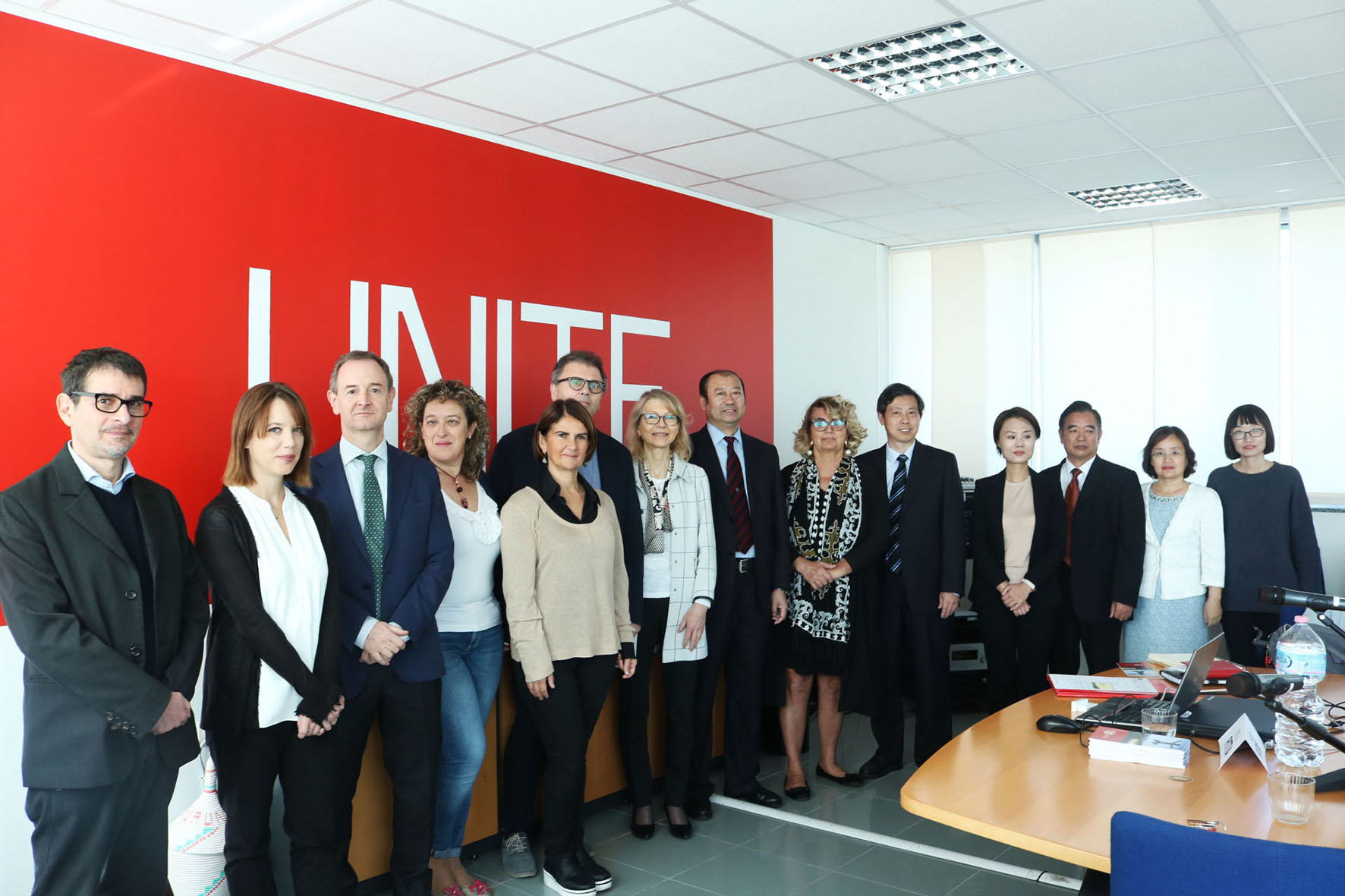 Delegazione cinese in Ateneo