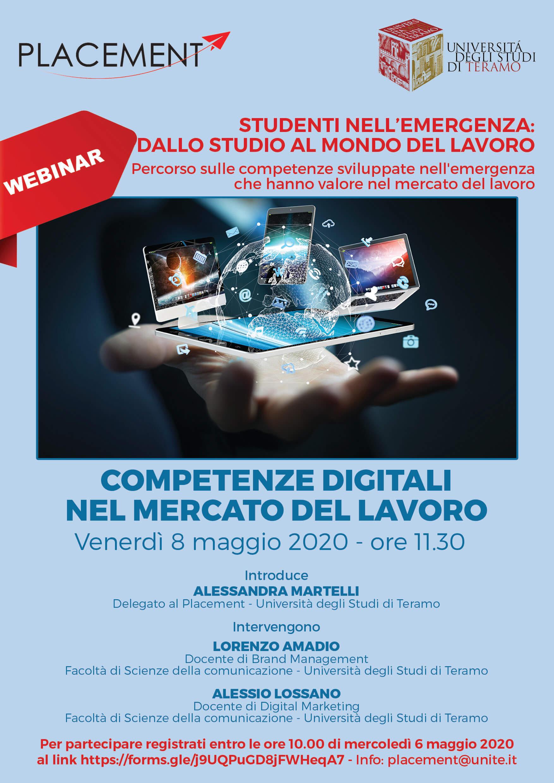 Webinar Placement: Competenze digitali nel mercato del lavoro