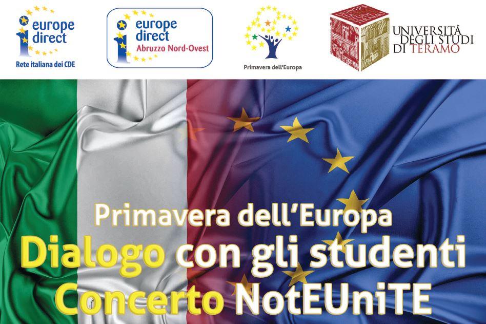 Primavera dell'Europa - Dialogo con gli studenti e Concerto NotEUniTE