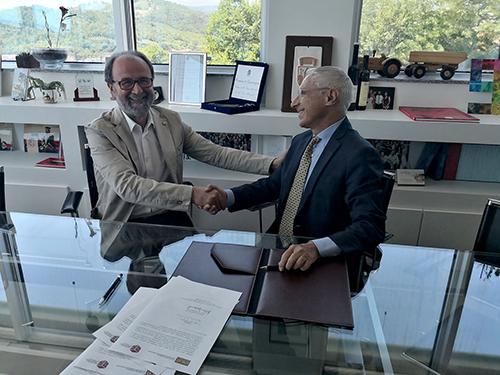 Il rettore Mastrocola e il presidente dell'UNCAT Damascelli