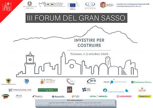 """III Forum Internazionale del Gran Sasso """"Investire per costruire"""""""