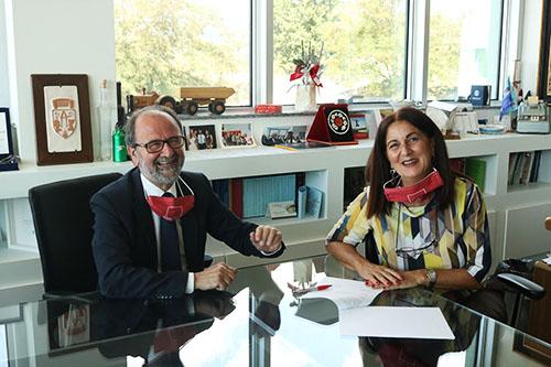Il Rettore Dino Mastrocola con la nuova Direttrice Generale Cinzia Santarelli