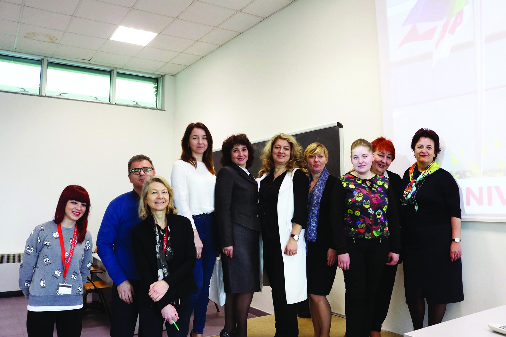 Docenti ospiti all'Università di Teramo per il Progetto Ag-Lab-Improving skills in laboratory practice for agro-food specialists in eastern Europe