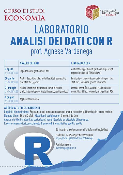 Laboratorio analisi dei dati con R