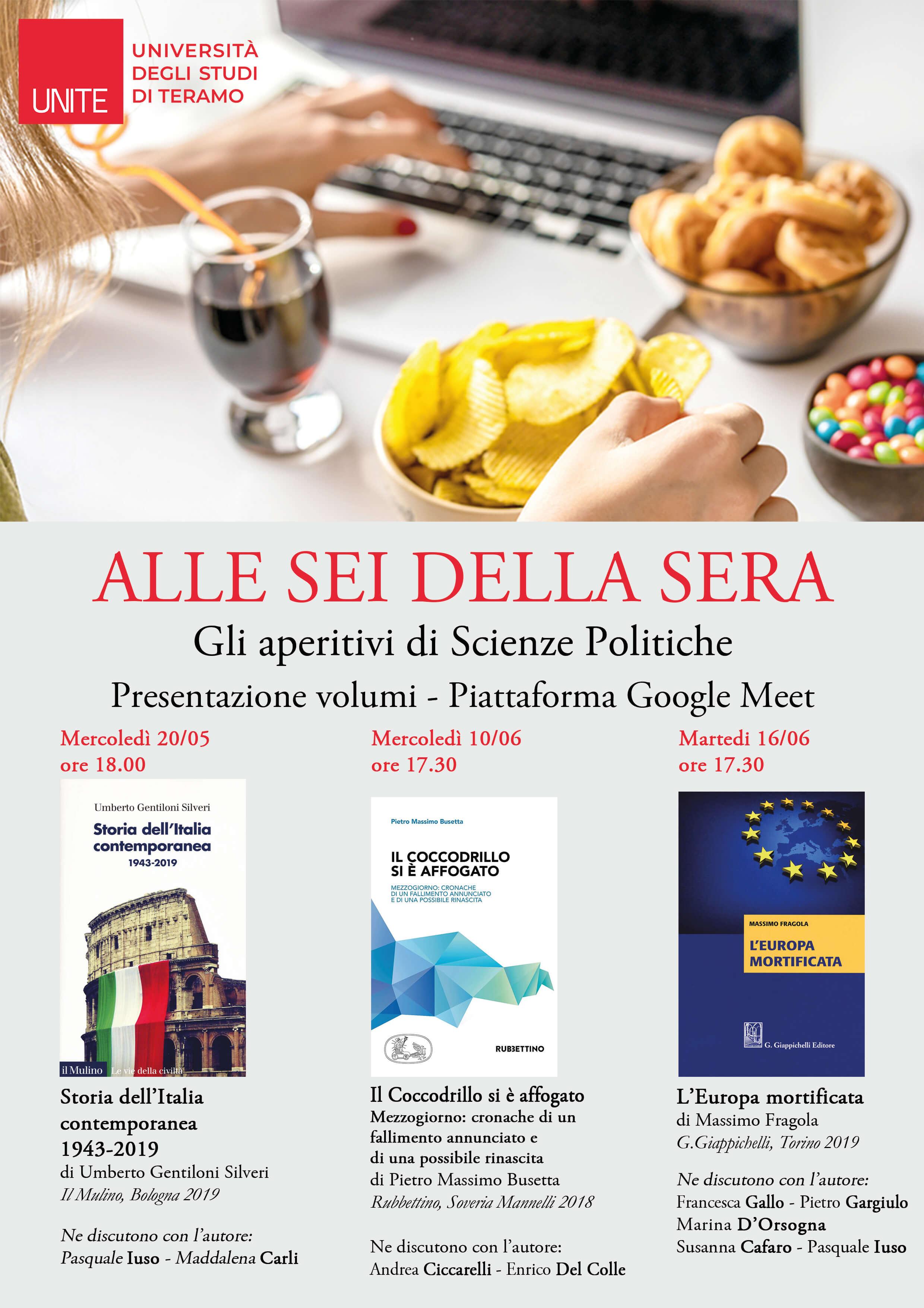 Gli aperitivi di Scienze Politiche: presentazione volumi su Google Meet