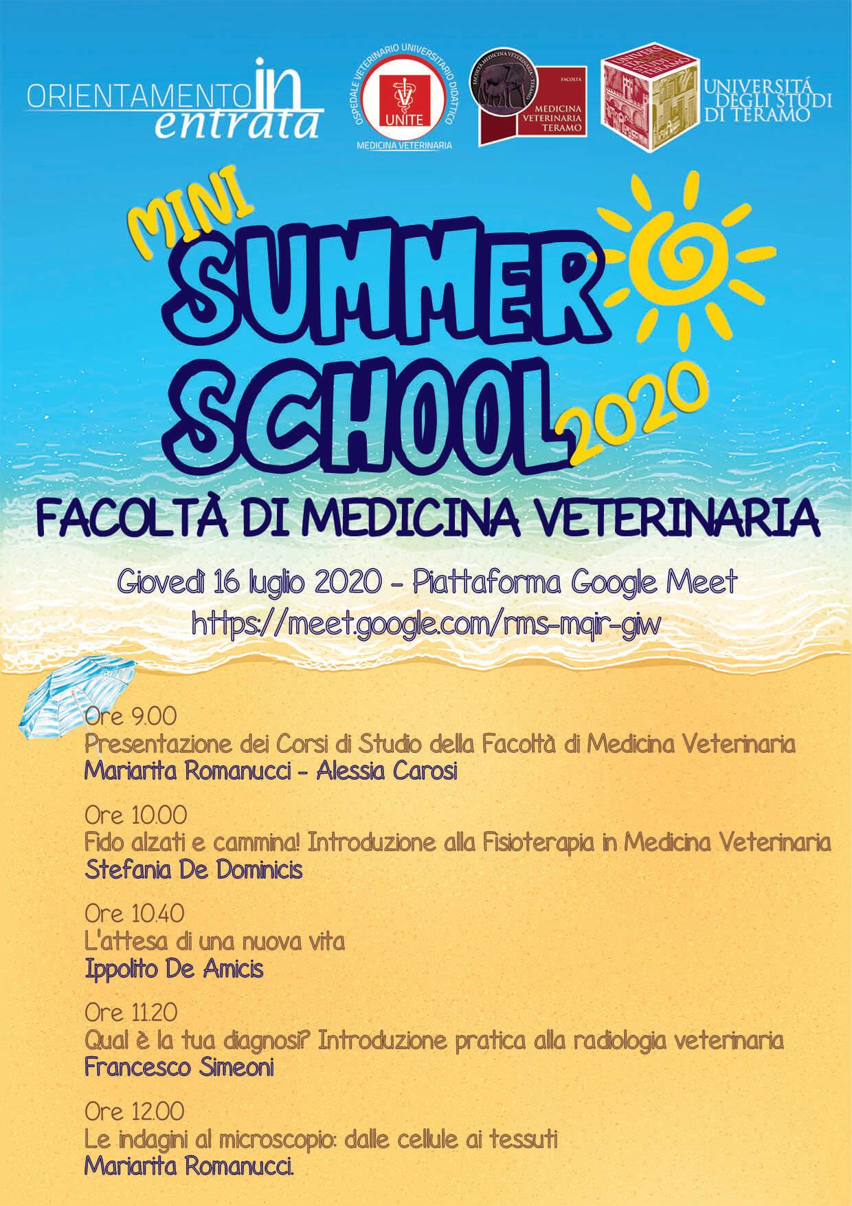 Mini Summer School Medicina Veterinaria