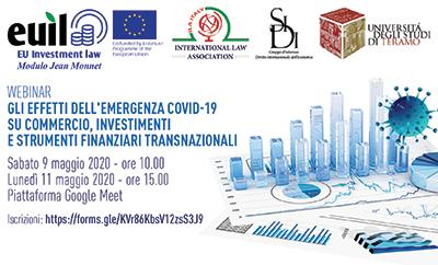 Gli effetti dell'emergenza Covid-19 su  commercio, investimenti e strumenti finanziari transnazionali