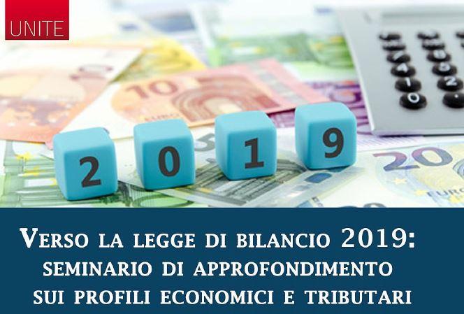 Seminario UniTE: Verso la Legge di Bilancio 2019