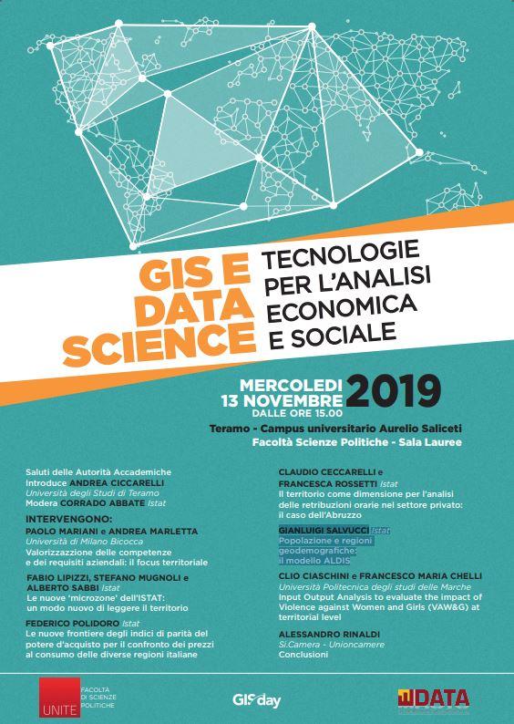 GIS e DATA SCIENCE: Tecnologie per l'analisi economica e sociale
