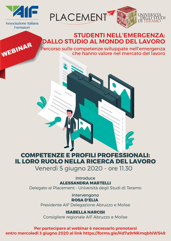 """Webinar Placement: """"Competenze e profili professionali: il loro ruolo nella ricerca del lavoro"""""""