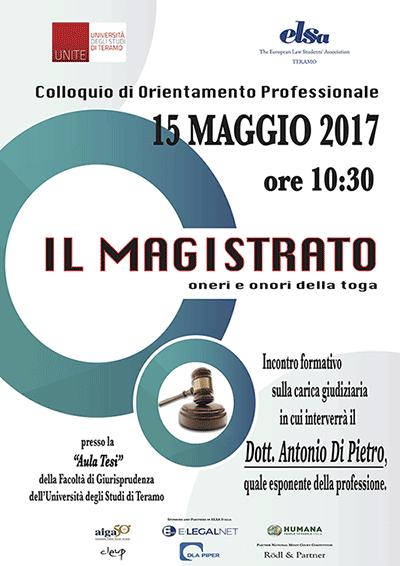 Il ruolo del magistrato: Antonio Di Pietro incontra gli studenti di Giurisprudenza