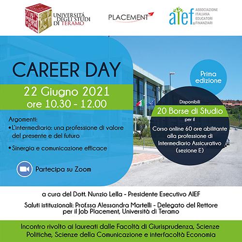Career Day UniTeramo e AIEF, Associazione Italiana Educatori Finanziari