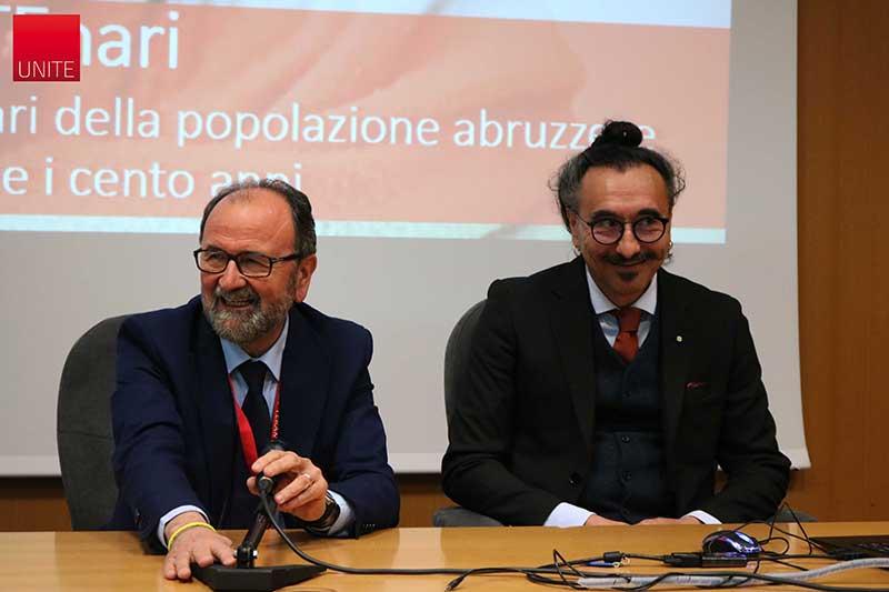 Il Rettore Dino Mastrocola e Mauro Serafini, docente di Alimentazione e nutrizione umana