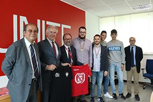 Nella foto, da sinistra: Francesco Bizzarri, Pompeo Leone, Dino Mastrocola, Michele Ninno, Federico Pignatelli, Paolo Di Giovanni, Salvatore Angelozzi, Luigi Mastrangelo.