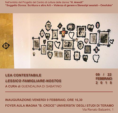 """Inaugurazione esposizione """"Lessico famigliare-nostos"""" di Lea Contestabile"""