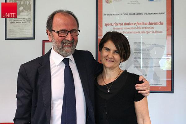 Il Rettore Dino Mastrocola e la prof.ssa Fausta Gallo