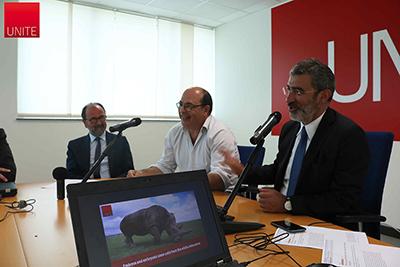 Prof. Dino Mastrocola, Prof. Lino Loi, Prof. Luciano D'Amico