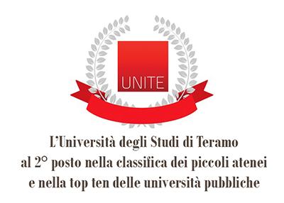 Censis: l'università di Teramo al 2° posto nella classifica dei piccoli atenei e nella top ten delle università pubbliche italiane. Risultati raggiunti grazie alle efficaci politiche di rilancio dell'ateneo di Teramo