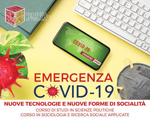 """""""Nuove tecnologie e nuove forme di socialità"""": ciclo di webinar sull'emergenza Covid-19"""
