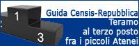 L'Università di Teramo al terzo posto nella Guida Censis/Repubblica