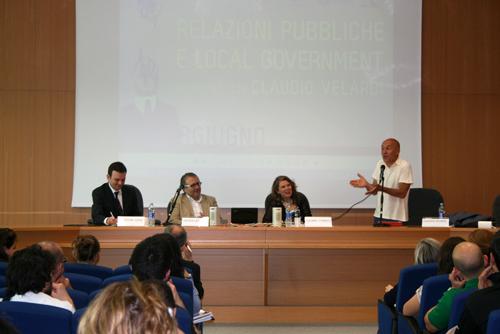 Lo spin doctor Claudio Velardi a Scienze della comunicazione