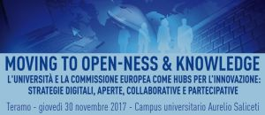 Moving to Open-ness & Knowledge. L'Università e la Commissione Europea come hubs per l'innovazione: strategie digitali, aperte, collaborative e partecipative