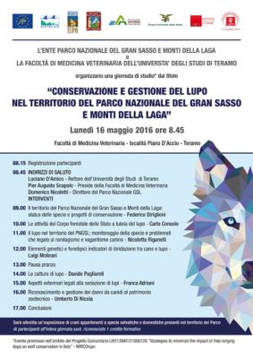 """""""Conservazione e gestione del lupo nel territorio del Parco nazionale del Gran Sasso e Monti della Laga"""""""