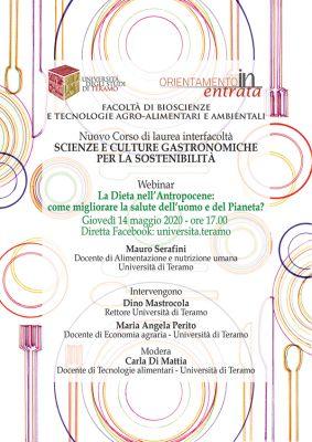 """Nuovo Corso di laurea interfacoltà """"Scienze e culture gastronomiche per la sostenibilità"""""""