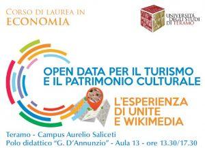 Open data per il turismo e il patrimonio culturale. L'esperienza di UniTe e Wikimedia