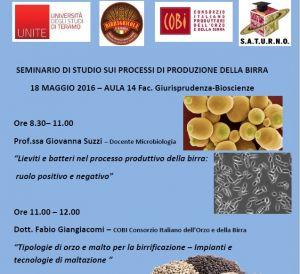 Seminario di studi sui processi di produzione della birra