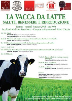 """Convegno """"La vacca da latte: salute, benessere e riproduzione"""""""
